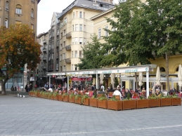 Plaza near the Danube
