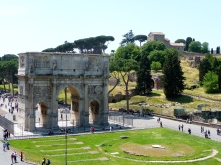 Arch of Constantine from the Colosseum