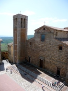 Looking down from the roof of town hall in Montepulciano onto the Town Square