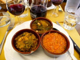 Lunch in Florence - trio of soups