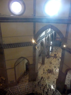 Duomo - Looking down from the top (inside) again