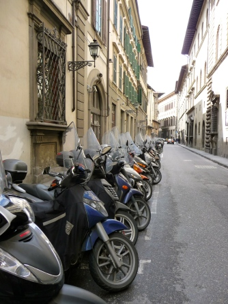 So many Vespas