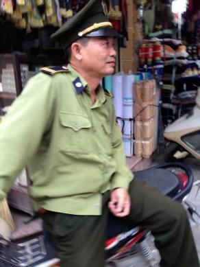 policeman, resting
