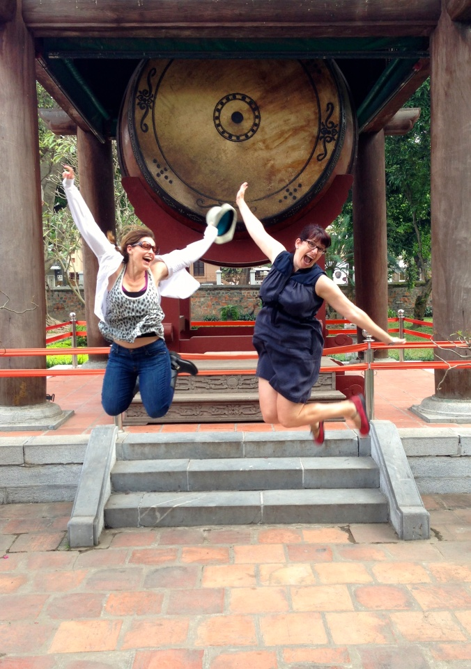 Rose and Lori at the Temple of Literature