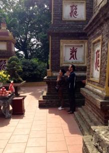 praying at the pagoda
