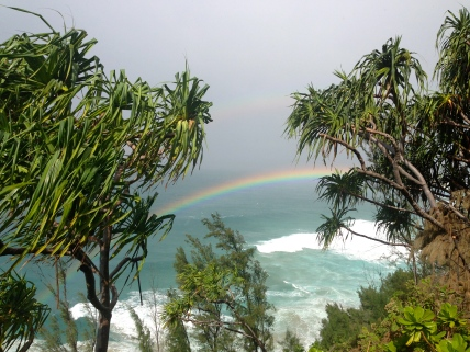 Double rainbow on the walk back