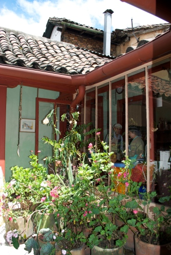 Courtyard at Maria Candelaria's