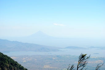 Masaya volcano in the distance