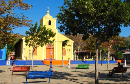 Church in town square