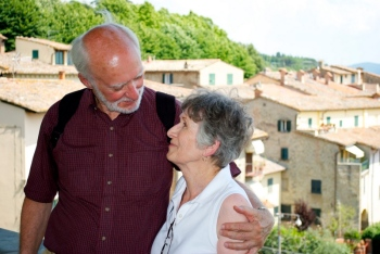 Mom and Dad in Cortona