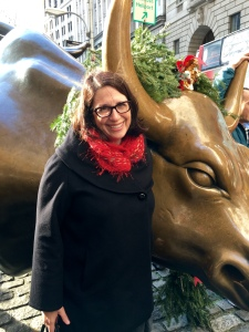 With the Charging Bull