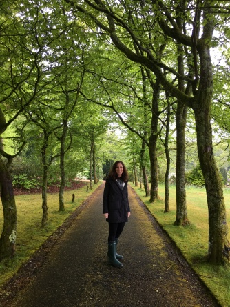 Exploring the grounds in Wellies