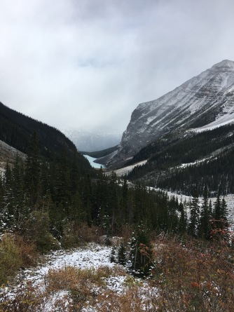 Looking back at Lake Louise