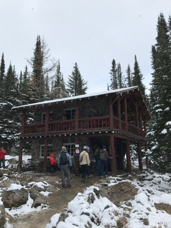 Plain of Six Glaciers Tea House (photo by Megan Williams)