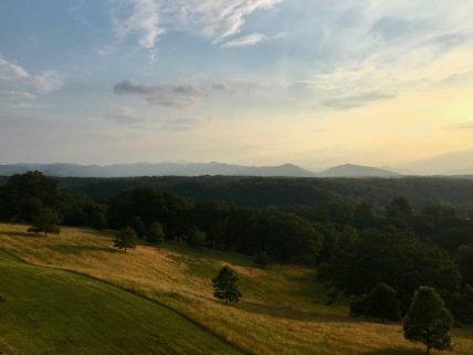 View of the Blue Ridge Mountains from the Loggia at Biltmore