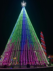 Christmas Tree Lights rainbow